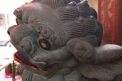 Κίνα, θρησκεία, λιοντάρι πετρών, λιοντάρι πετρών στοκ φωτογραφίες