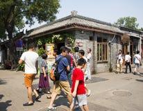 Κίνα και Ασία, Πεκίνο, η αρχαία οδός, πάροδος Nanluogu Στοκ εικόνες με δικαίωμα ελεύθερης χρήσης