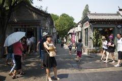 Κίνα και Ασία, Πεκίνο, η αρχαία οδός, πάροδος Nanluogu Στοκ Εικόνα