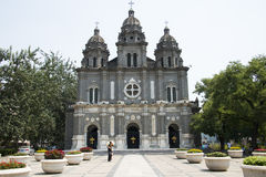 Κίνα και Ασία, Πεκίνο, το Wangfujing, η καθολική εκκλησία, η ανατολική εκκλησία Στοκ εικόνα με δικαίωμα ελεύθερης χρήσης