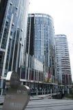 Κίνα και Ασία, Πεκίνο, Sanlitun SOHO, σύγχρονα κτήρια, εμπορική περιοχή Στοκ εικόνα με δικαίωμα ελεύθερης χρήσης