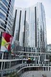 Κίνα και Ασία, Πεκίνο, Sanlitun SOHO, σύγχρονα κτήρια, εμπορική περιοχή Στοκ Εικόνα