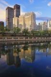 Κίνα Πεκίνο CBD, αστικό τοπίο οικοδόμησης Στοκ Φωτογραφία