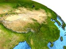 Κίνα στη γη Στοκ εικόνες με δικαίωμα ελεύθερης χρήσης