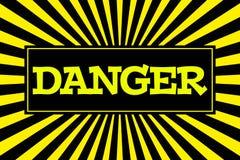 Κίνδυνος ` επιγραφής ` στο ύφος κινούμενων σχεδίων Στοκ φωτογραφία με δικαίωμα ελεύθερης χρήσης