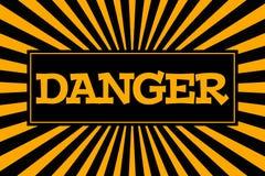 Κίνδυνος ` επιγραφής ` στο ύφος κινούμενων σχεδίων Στοκ Εικόνα