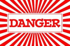 Κίνδυνος ` επιγραφής ` στο ύφος κινούμενων σχεδίων Στοκ Φωτογραφία