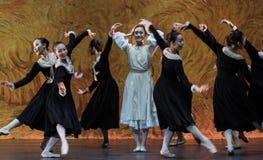Κίνδυνος και χαρά-μπαλέτο το κορίτσι από Arles Στοκ Εικόνες