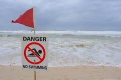 κίνδυνος καμία κολύμβηση Στοκ εικόνα με δικαίωμα ελεύθερης χρήσης