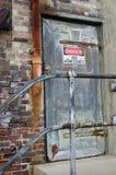 Κίνδυνος κανένα σημάδι εισόδου Στοκ Εικόνα