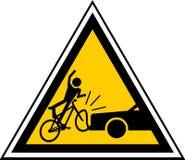 κίνδυνος ποδηλατών Στοκ φωτογραφίες με δικαίωμα ελεύθερης χρήσης