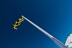 κίνδυνος σημαιών χιονοστ Στοκ εικόνες με δικαίωμα ελεύθερης χρήσης