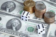 Κίνδυνος στην επένδυση χρημάτων Στοκ Εικόνα
