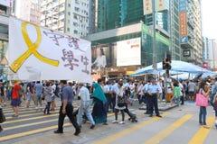 Κίνημα ομπρελών στο Χονγκ Κονγκ Στοκ Φωτογραφία