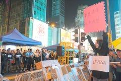 Κίνημα ομπρελών στο Χονγκ Κονγκ Στοκ Εικόνα