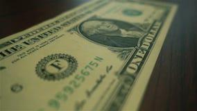 Κίνηση ακραίο στενό σε επάνω μιας αμερικανικής λογαριασμός δολαρίων hd απόθεμα βίντεο