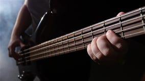 κίνηση αργή Θλίψη και ηλεκτρική βαθιά κιθάρα σειράς Τοπ όψη απόθεμα βίντεο