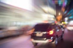 κίνηση αυτοκινήτων θαμπάδων γρήγορα Στοκ Εικόνες