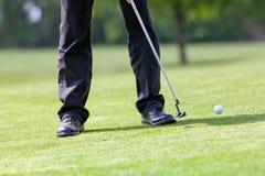 κίνηση γκολφ σφαιρών στοκ φωτογραφίες