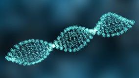 Κίνηση γραφική του σκέλους DNA απόθεμα βίντεο