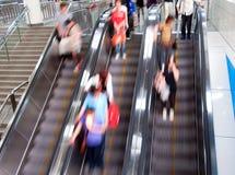 κίνηση κυλιόμενων σκαλών Στοκ φωτογραφία με δικαίωμα ελεύθερης χρήσης