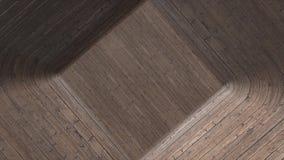 Κίνηση μέσω της τρισδιάστατης ξύλινης σήραγγας τρισδιάστατη σήραγγα φιαγμένη από παρκέ Σήραγγα με το ξύλινο υπόβαθρο σχεδίων όλη  ελεύθερη απεικόνιση δικαιώματος