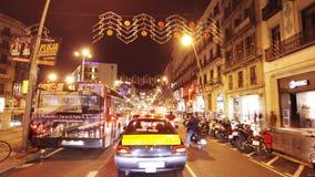 Κίνηση νύχτας της Βαρκελώνης φιλμ μικρού μήκους
