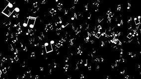 Κίνηση οι μουσικές νότες Μαύρη ανασκόπηση ελεύθερη απεικόνιση δικαιώματος