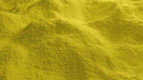 Κίνηση πέρα από την κίτρινη σκόνη απόθεμα βίντεο