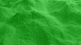 Κίνηση πέρα από την πράσινη σκόνη απόθεμα βίντεο