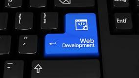 Κίνηση περιστροφής ανάπτυξης Ιστού στο κουμπί πληκτρολογίων υπολογιστών απόθεμα βίντεο
