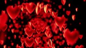 Κίνηση πολλές καρδιές απόθεμα βίντεο