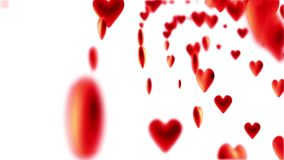 Κίνηση πολλές κόκκινες καρδιές απόθεμα βίντεο