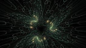Κίνηση που απεικονίζει τη μεταμόρφωση νηματοειδές αφηρημένο συμμετρικό fractal απόθεμα βίντεο