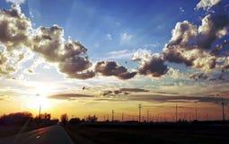 Κίνηση στον ήλιο στοκ εικόνες