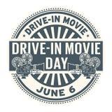 Κίνηση-στο γραμματόσημο ημέρας κινηματογράφων απεικόνιση αποθεμάτων