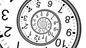 Κίνηση 4k χρονικής έννοιας ρολογιών απείρου droste απεικόνιση αποθεμάτων