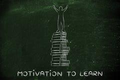 Κίνητρο που μαθαίνουν, επιτεύγματα εκπαίδευσης και σχολείων Στοκ φωτογραφία με δικαίωμα ελεύθερης χρήσης