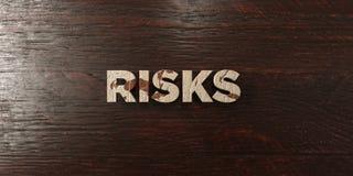 Κίνδυνοι - βρώμικος ξύλινος τίτλος στο σφένδαμνο - τρισδιάστατο δικαίωμα ελεύθερη εικόνα αποθεμάτων ελεύθερη απεικόνιση δικαιώματος