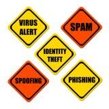 κίνδυνοι Διαδίκτυο Στοκ φωτογραφία με δικαίωμα ελεύθερης χρήσης