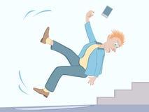 Κίνδυνοι πτώσης - ρολόι για τον πάγο απεικόνιση αποθεμάτων