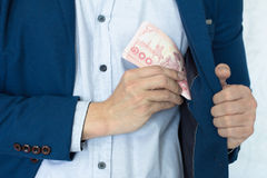 Κίνδυνος και επένδυση επιχειρησιακών χρημάτων Στοκ Εικόνες