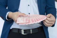 Κίνδυνος και επένδυση επιχειρησιακών χρημάτων Στοκ Φωτογραφίες