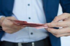 Κίνδυνος και επένδυση επιχειρησιακών χρημάτων Στοκ εικόνα με δικαίωμα ελεύθερης χρήσης
