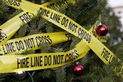 Κίνδυνος πυρκαγιάς Χριστουγέννων Στοκ Εικόνες
