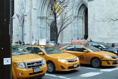 Κίτρινα αμάξια της Νέας Υόρκης Στοκ Εικόνες