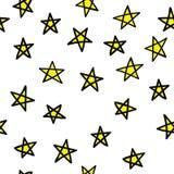 Κίτρινα αστέρια άνευ ραφής Στοκ φωτογραφίες με δικαίωμα ελεύθερης χρήσης