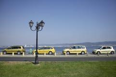 Κίτρινα αυτοκίνητα Στοκ Εικόνα