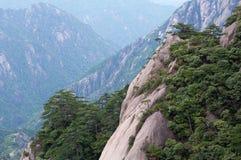 Κίτρινα βουνά βουνών Huangshan σε Anhui, Κίνα Στοκ Φωτογραφία