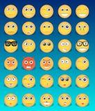 Κίτρινα εικονίδια emoticons Στοκ Εικόνα